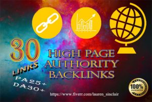 High Pace Domain Authority Backlinks