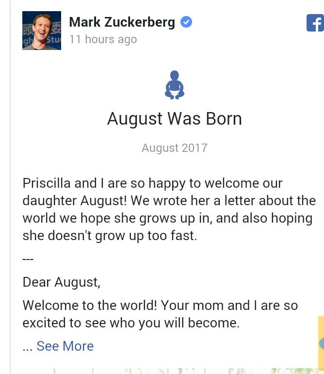 Mark Zuckerberg and Priscilla Chan Welcomes August with a Letter on FaceBook