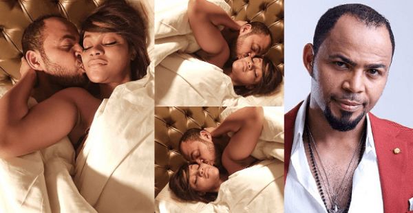 """YORUBA DEMONS"" — RAMSEY NOUAH AND DAMILOLA ADEGBITE PICTURED IN BED"